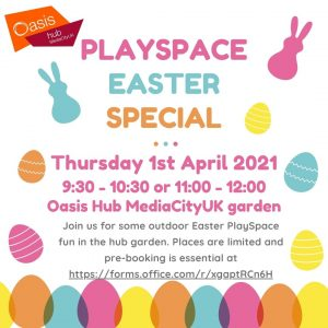 Playspace Easter special activity flyer