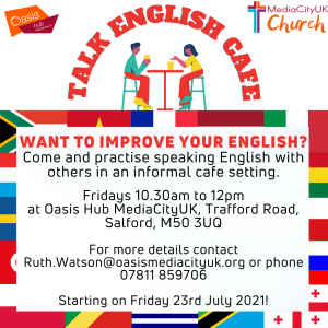 Talk English Cafe flyer